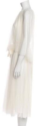 Maria Lucia Hohan Crew Neck Midi Length Dress w/ Tags White
