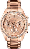 JCPenney CARAVELLE, NEW YORK Caravelle New York Womens Rose-Tone Bracelet Chronograph Watch 44L117