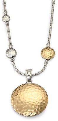 John Hardy Palu 18K Yellow Gold & Sterling Silver Medium Round Enhancer