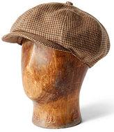 Ralph Lauren Houndstooth Tweed Newsboy Cap