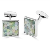 Effy Jewelry Effy Mens Brass Faceted Blue Shell Inlay Cuff Links