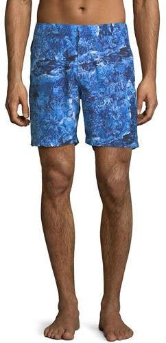 Derek Rose Maui Modern-Fit Swim Trunks