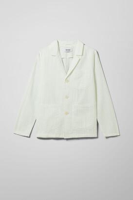 Weekday Briam Seersucker Suit Jacket - Green