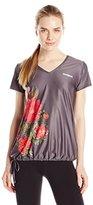 Desigual Women's Dark Gray V Neck T Shirt