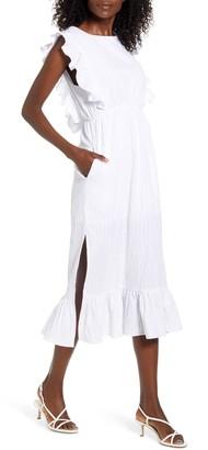 MinkPink Giselle Convertible Cotton Blend Midi Dress