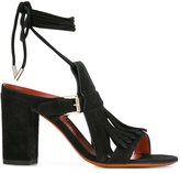 Santoni buckled fringed sandals