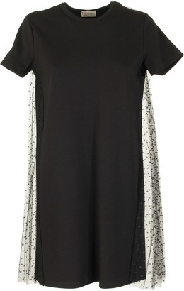 RED Valentino Jersey Dress And Point Desprit Tulle