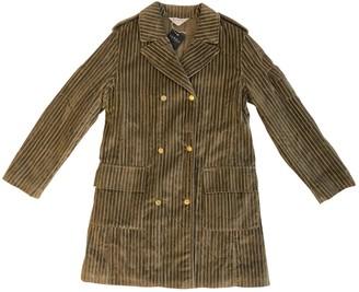 La Perla Khaki Velvet Coat for Women