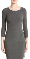 Armani Collezioni Women's Armani Jeans Rib Knit D-Ring Sweater