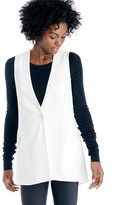 Sole Society Collarless Long Vest