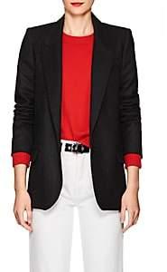 Etoile Isabel Marant Women's Igora Plaid Wool-Blend One-Button Blazer - Dark Gray