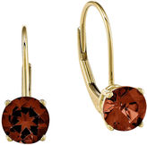 FINE JEWELRY Genuine Red Garnet 14K Yellow Gold Drop Earrings