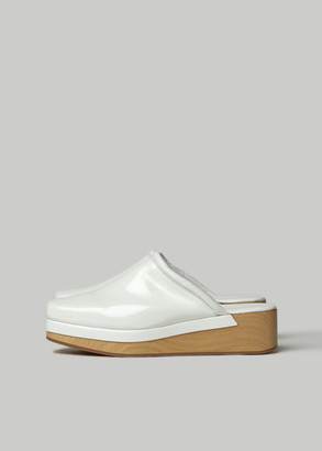 Rachel Comey Women's Auder Clog Shoes in White Size 8 Leather/Rubber