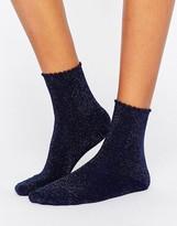 Pieces Navy Glitter Sock
