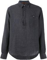 Barena half button placket shirt - men - Linen/Flax - 46