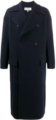 Loewe double-breasted long coat