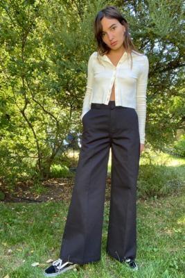 Dickies Winnsboro Wide Leg Trousers - Black 24 at Urban Outfitters