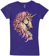 Micro Me Purple Unicorn Fitted Tee - Infant Toddler & Girls
