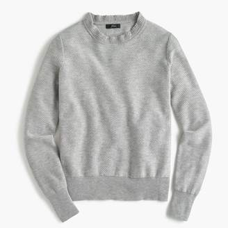 J.Crew Ruffle-neck pullover sweater