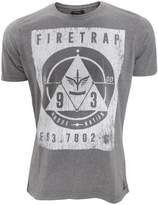 Firetrap Mens Slaidburn Graphic Print Short Sleeve T-Shirt (X Large) (Grey)