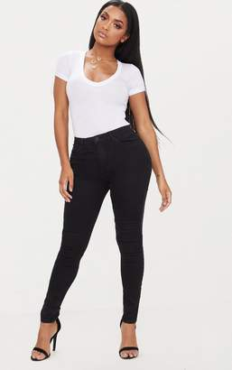 PrettyLittleThing Shape Black Stretch Denim Skinny Jean