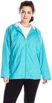 Big Chill Women's Plus-Size Lightweight Anorak with Mesh Lining