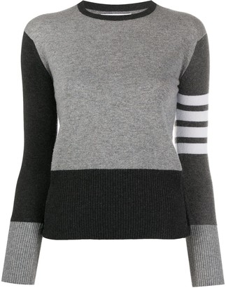 Thom Browne 4-Bar Colour-Block Jumper