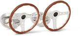 Deakin & Francis - Steering Wheel Sterling Silver Enamelled Cufflinks