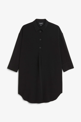 Monki Classic wide shirt dress