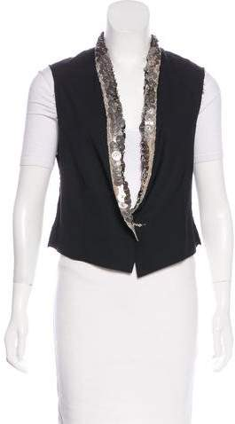 Yigal Azrouel Embellished Wool Vest w/ Tags