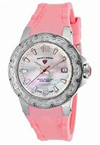 Swiss Legend Women's Quartz Stainless Steel and Silicone Casual Watch, Color:Pink (Model: SL14098SM02PKS)