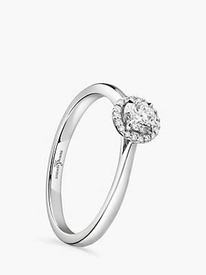 Brown & Newirth Platinum Round Diamond Engagement Ring, 0.28ct