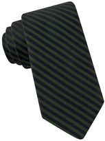 Black Brown 1826 Narrow Striped Silk Tie