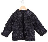 Lili Gaufrette Girls' Ruffled Puffer Coat