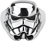 Star Wars FINE JEWELRY Stormtrooper Mens Stainless Steel Ring