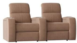 Palliser Furniture Corbett Curved Home Theater Loveseat (Row of 2) Palliser Furniture Body Fabric: Ambient Acorn