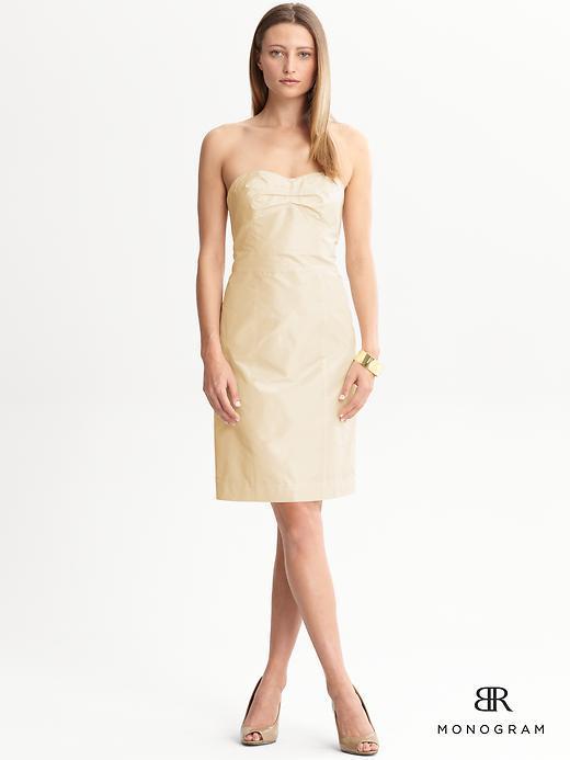 Banana Republic BR Monogram silk Lela strapless dress