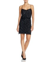 Aidan Mattox Dress - Spaghetti Strap Beaded Blouson