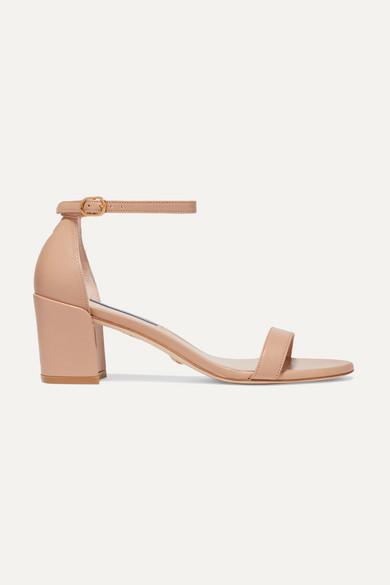 Stuart Weitzman Leather Sandals - Beige