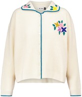 Thumbnail for your product : Rixo Tinsley embroidered wool cardigan
