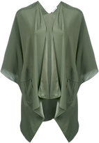 P.A.R.O.S.H. cropped sleeve waterfall jacket - women - Silk - S
