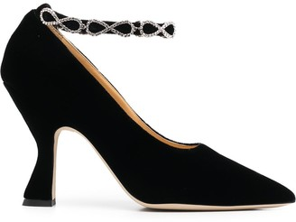 Giannico Mia embellished-strap pumps