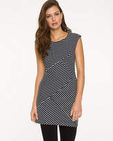 Le Château Stripe Knit Scoop Neck Tunic