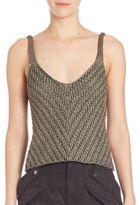 Helmut Lang Silk Sleeveless Knit Top