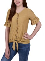 Thumbnail for your product : NY Collection Women's Short Ruffle Sleeve Blouse