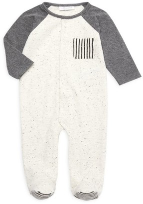 Miniclasix Baby Boy's Ribbed & Speckled Footie