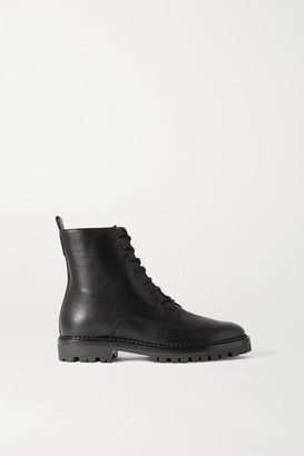 Vince Cabria Lug Leather Ankle Boots - Black