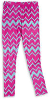 Planet Gold Girls 7-16 Chevron Leggings
