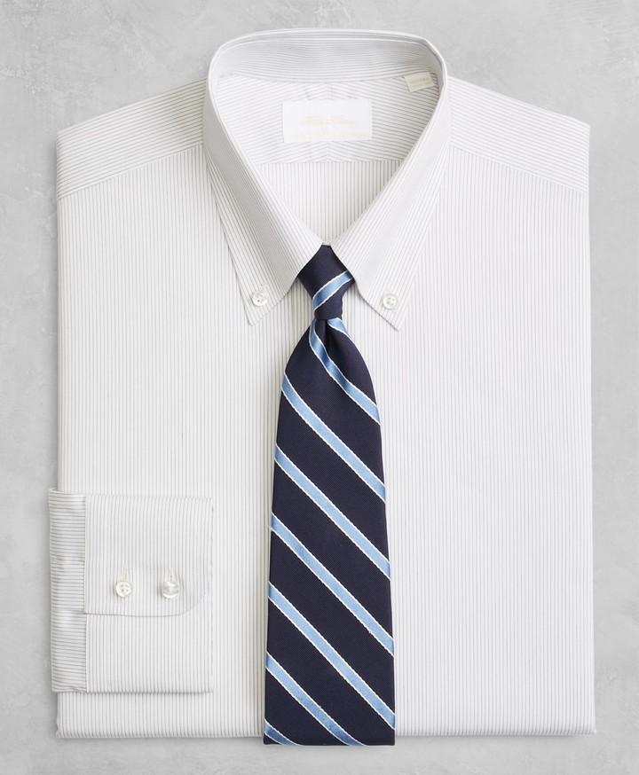 7f139ba654 Golden Fleece Milano Slim-Fit Dress Shirt, Button-Down Collar Black  Micro-Stripe