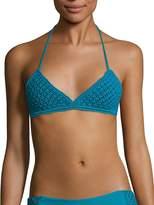 Mikoh Women's Mokulua Macrame Halter Bikini Top